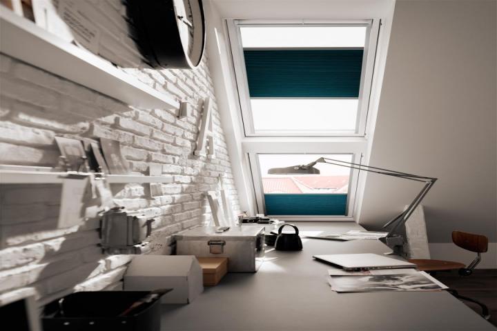 raamdecoratie voor dakramen raamidee